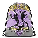 JIALIA Vintage Powerline Concert Logo - A Goofy Movie Sport Bag Gym Sack