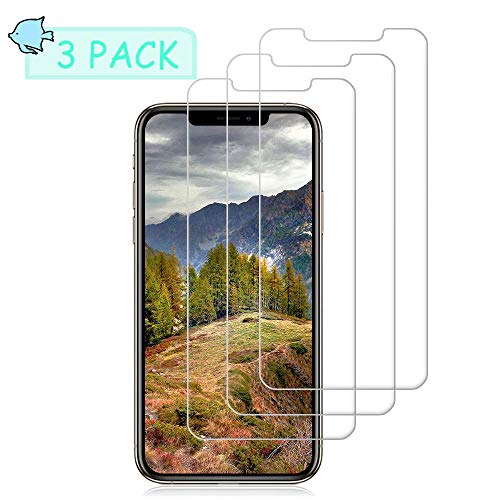 Pal-Xiboe Tempered Glass Screen Protectors Compatible with iPhone XS Max iPhone 11 Pro Max [No Bubbles] [9H Hardness]For iPhone XS Max iPhone 11 Pro Max Screen Protectors [6.5 Inch][3Pack]