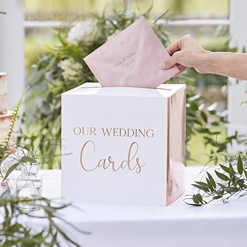 Ginger Ray Rose gouden bruiloft post doos - botanische bruiloft