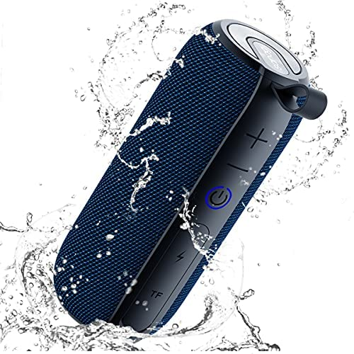 SANAG Portable Bluetooth Speaker, 360 HD Surround Loud Sound and Deep Bass, 25W Wireless Stereo Dual Pairing, IPX7 Waterproof, Bluetooth 5.0, Outdoor, Camping, 24H Playtime Speaker