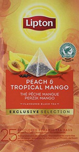 Lipton Pfirsich & Tropische Mango Schwarztee Pyramidbeutel, 103 g