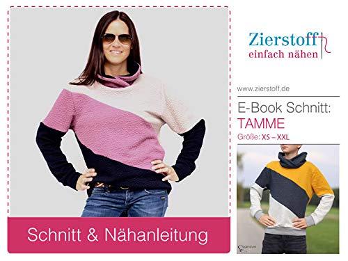 Zierstoff einfach nähen Schnittmuster, Männershirt, Shirt TAMME, Gr. XS bis XXL - digital