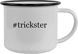 #trickster - 12oz Hashtag Stainless Steel Camping Mug, Black