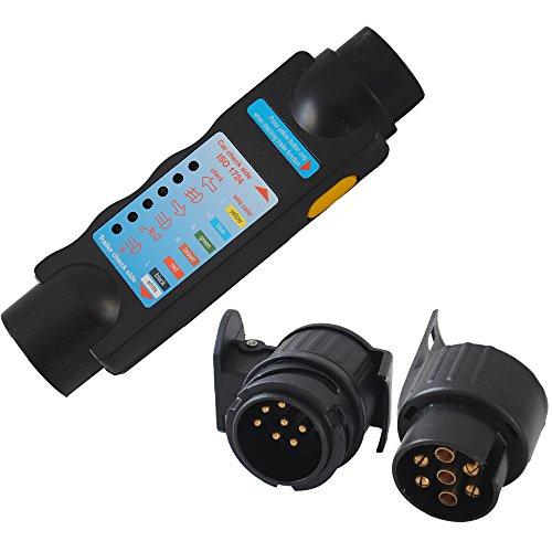 CCLIFE Testeur de remorque- testeur faisceau attelage - kit voiture emorque ateau (7 ou 13 broche) testeur attelage