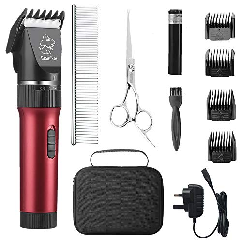 Sminiker Professional Low Noise Pet Clippers with accessories