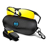 BLUPOND Yellow Glasses for Men/Women - Anti Fog Semi-Polarized Shooting Safety Glasses for Ultimate Eye Protection (Black, Yellow Amber)