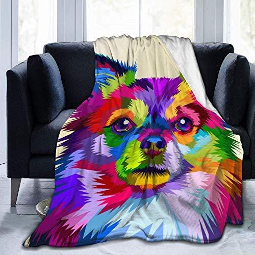 Manta de forro polar para perro Chihuahua, muy suave, para cama y sofá, 127 x 101 cm