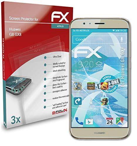 atFolix Schutzfolie kompatibel mit Huawei G8 GX8 / G7 Plus Folie, ultraklare & Flexible FX Bildschirmschutzfolie (3X)