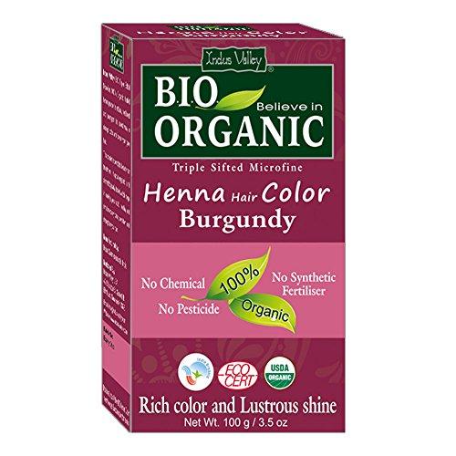Indus Valley BIO Organic Burgund Henna Haarfarbe - 100% rein und natürlich