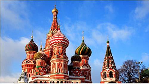NOBRAND Rompecabezas Rompecabezas 1000 Piezas Catedral De San Basilio Plaza Roja Moscú Arquitectura Cúpula Puzzle De 1000 Piezas