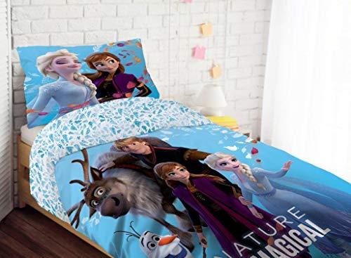 Frozen - Funda nórdica mágica (140 x 200 cm), diseño de Frozen