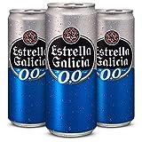 Estrella Galicia 0,0 Cerveza - Pack de 24 latas x 330 ml - Total: 7.92 L