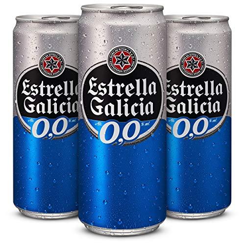 Estrella Galicia Cerveza 00 - Pack de 24 latas x 33 cl