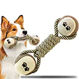 Durable Puzzle Ball Dog Toy with Squeaky Tough RopeToy Gift for Chewers Interactive Pet Toy for Boredom Dog Toothbrush Chew Toy