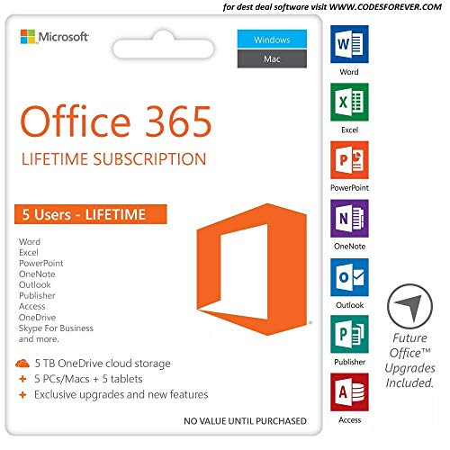 Office 365 Personal / Account Per 1 Persona / Abbonamento Lifetime / Compatibile PC - Mac - Android / Fattura / Consegna Immediata