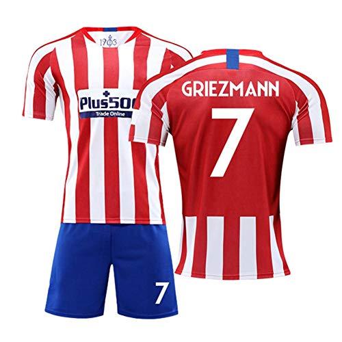 XH Camiseta Antoine Griezmann # 17 Conjunto de Camiseta de fútbol para Hombre Todos los tamaños niños y Adultos (Color : B, Size : Children-18)