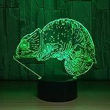 LED 3D lumière couleur lampe Veilleuse LED Illusion lazy Décoration pour Enfant Chambre Chevet Table de Bébé Enfant Cadeau De Noël Fête Avec chargement USB, changement de couleur coloré