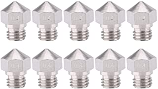 Stainless Steel 10PCS MK10 Extruder Nozzle, M7 Thread Extruder Nozzle, High Recognition for 3D Printer Accessories