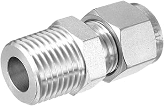 Beduan 304 Stainless Steel Compression Tube Fitting, 10mm Tube OD x 1/2
