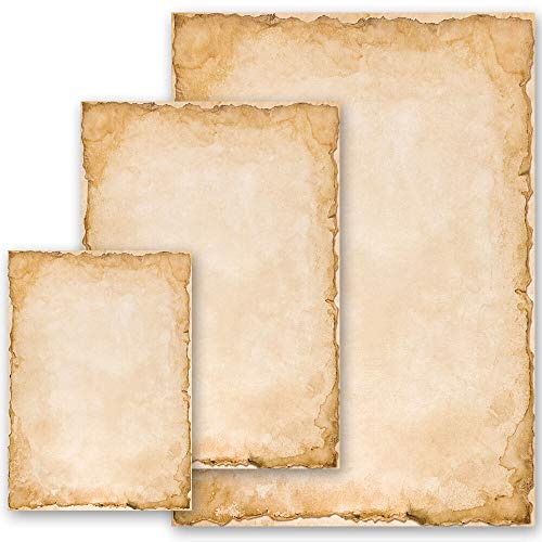 100 Blatt Briefpapier Altes Papier Geschichte VINTAGE - DIN A5 Format - Paper-Media