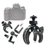 DURAGADGET Soporte Universal Tipo Pinza para Manillar de Bicicleta para Cámara Nikon FAA410NA | N1 AW1 | Olympus E-PL7 (1442) | Zenit E Cámara