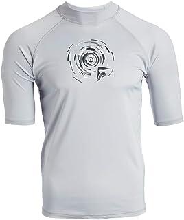 قميص سباحة للرجال من كانيو سرف واقي من اشعة الشمس بعامل حماية من الاشعة فوق البنفسجية 50+ يحمل شعار راشجوارد