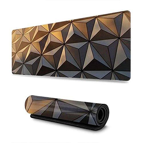 Muismat met abstracte geometrie, eenkleurig, geavanceerde gamingpad, lange muismat, personaliseerbaar