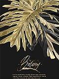 XIAOTAIZINAI Fai da Te 9D Pittura Diamante per Adulti Set Fiore d'oro Pieno di Diamanti Fai da Te Diamante Arte Punto Croce Pittura Famiglia Decorazione della Parete 40X50 cm Frameless