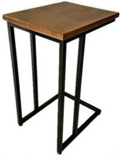 NAN Bureau d'ordinateur Portable en Bois de Chevet Table de Chevet en métal de Chevet Moderne Café Magazine Snack Table marron (Taille   60 cm)