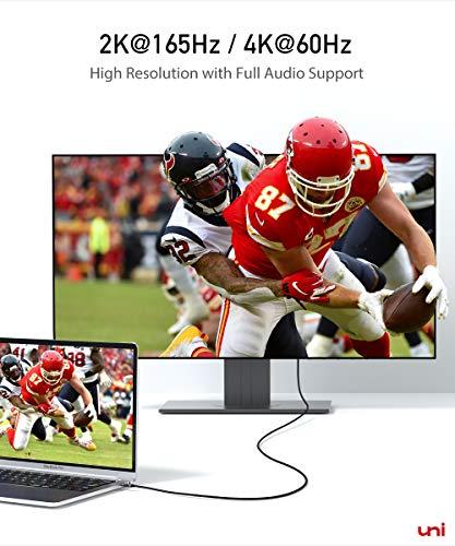 USB C auf DisplayPort Kabel (4K@60Hz, 2K@144Hz), Thunderbolt 3 zu DisplayPort-Kabel, Kompatibel für MacBook Pro 2019/2018/2017, MacBook Air, iPad Pro 2020/2018, Surface Book usw. 6ft/1,8m - 3