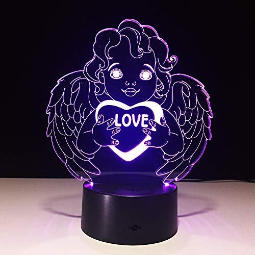 Feiern Sie Vatertagsgeschenk Liebe Engel Art der Farbe Touch-Schalter Licht Raumdekoration Dekoration Tischlampe Schlaf Beleuchtung