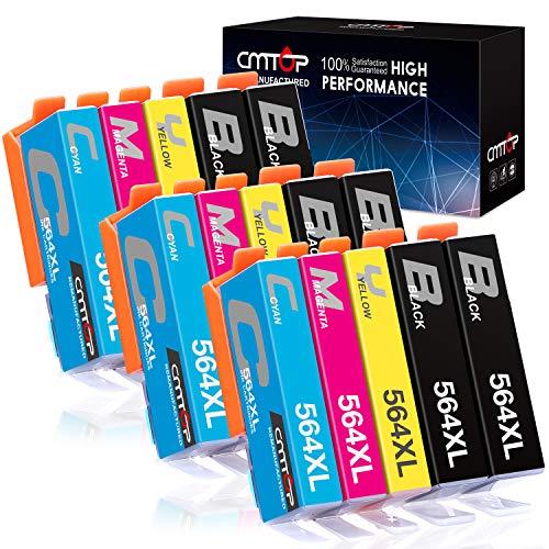 CMTOP 564XL - Cartuchos de tinta compatibles con HP 564 para impresora HP Photosmart 5520 6520 7520 5510 6510 7510 C309A C410A Officejet 4620 Deskjet 3520 (6 negro, 3 cian, 3 magenta, 3 amarillo)