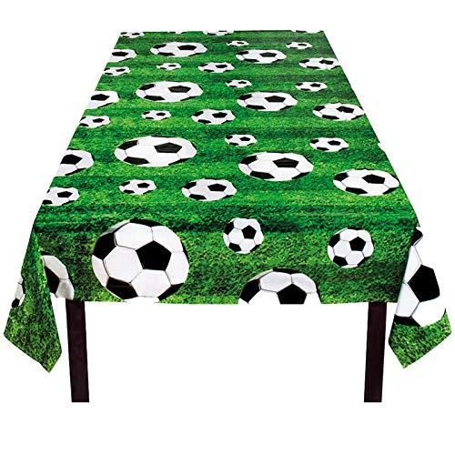 B-Creative Voetbal Voetbal Partij Decoratie Partyware Tafelgerei World Cup Bunting Ballonnen (Groen Tafelkleed Ongeveer 120x180cm)