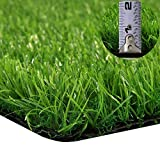GT LIFE Artificial Grass for Dogs Synthetic Turf Artificial Lawn Rug with Drainage Holes&Rubber Backing, Blade Height 1.2inch Indoor/Outdoor Landscape(5'x5',Spring Lawn)