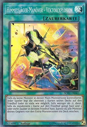 SOFU-DE061 - Himmelsjäger-Manöver - Vektorexplosion - Super Rare - Yu-Gi-Oh - Deutsch 1. Auflage