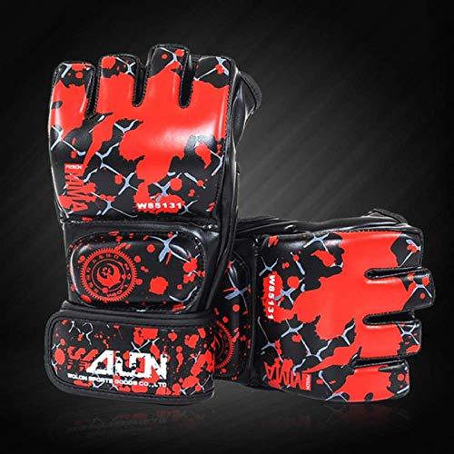 Boxhandschuhe Boxsack Blood Fight Half Fingers Jugend Erwachsene Sparring Boxen MMA Handschuhe Sanda Muay Thai Kampfkunst Mitts Punch Training Gear 10Oz