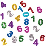Baker Ross AT229 Glitter Foam Self-adhesive Numbers - Pack of 800, Arts and crafts for Kids, Assorted