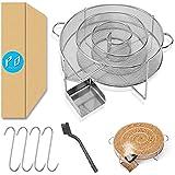Hipeqia®, generatore di fumo freddo in acciaio inox, generatore di fumo freddo a spirale per affumicatori a freddo e affumicatore Food Smoker (riutilizzabile)