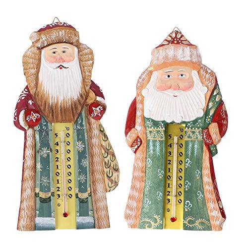 PRETYZOOM 2Pcs Weihnachten Vertikales Thermometer Santa Claus Messgerät Monitor Bauernhaus Innen Hygrometer für Weihnachten Dekoration Ornamente