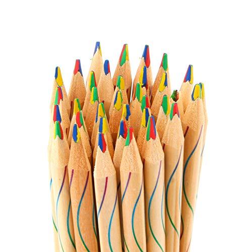 10 pcs/lot DIY Cute Kawaii en bois en bois de crayon de couleur arc-en-ciel Couleur crayon pour Kid école Graffiti Dessin Peinture taille unique multicolore