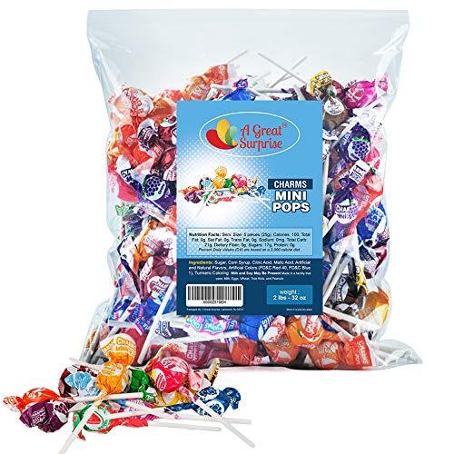 Charms Lollipops - Charms Mini Lollipops - Bulk Candy - 2 Pounds
