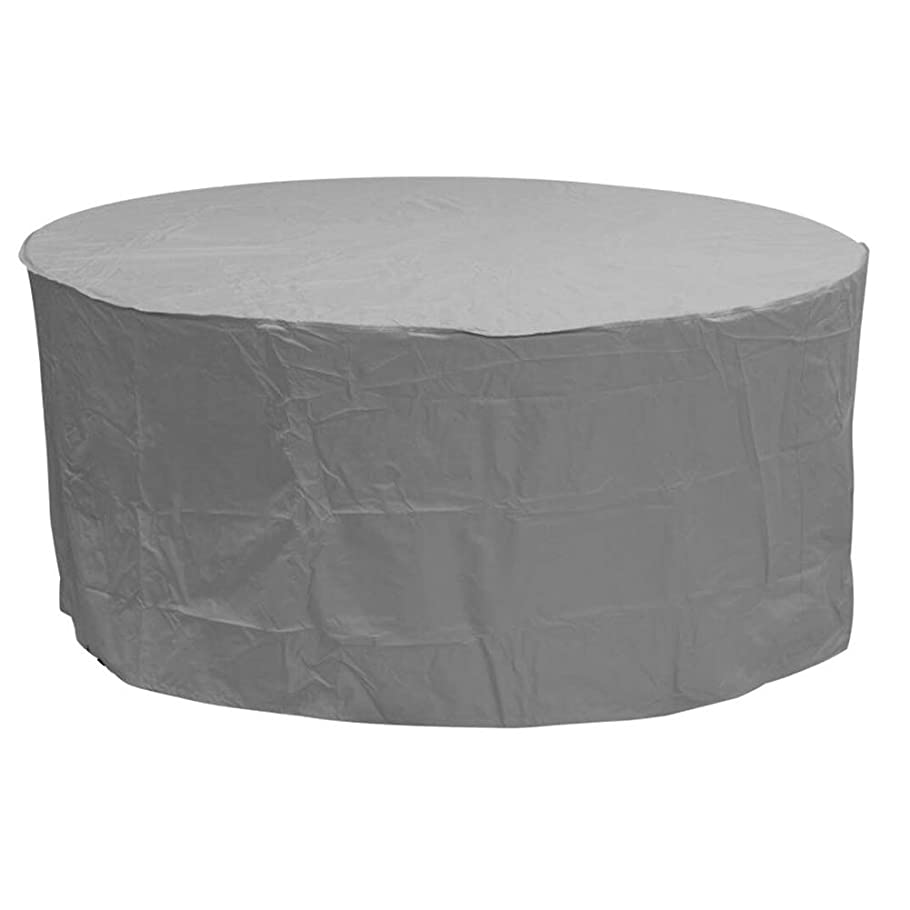 ドットエンジニアリング才能のあるFQJYNLY ガーデン家具カバーラウンド保護カバー600Dオックスフォード布耐摩耗性防水UV防止屋外テーブルと椅子、17サイズ (Color : Gray, Size : 123×123×74cm)