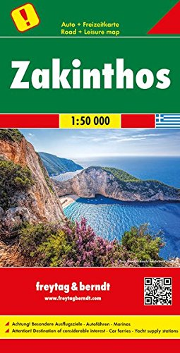 F&B Zakynthos: Toeristische wegenkaart 1:50 000