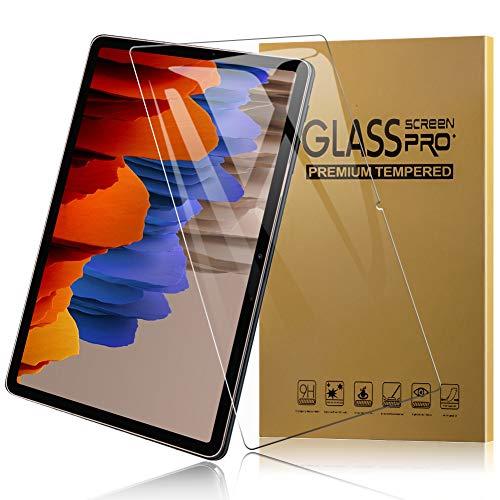 TOPACE 2 Stück Panzerglas für Samsung Galaxy Tab S7+ Schutzfolie, Ultra-HD Vollschutz-mit Ultra-Stärke Glas Blasenfrei Anti-Kratzer Anti-Öl Gehärtetes Glas Bildschirmschutz für Samsung Galaxy Tab S7 Plus