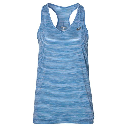 ASICS Fuzex Layering Tank Camiseta de Tirantes, Mujer, Azul...