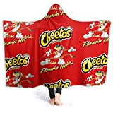 Eppedtul Cheetos Crunchy Flamin Hot Wearable Hooded Throw Blanket Sherpa Blanket Fleece Hooded Blanket 50'' X40