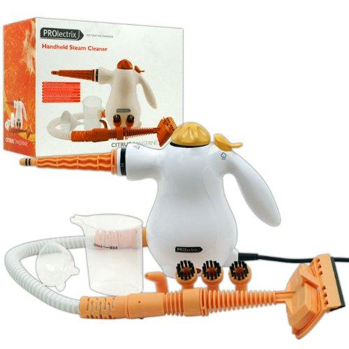 PROlectrix Nettoyeur vapeur portable Citrus mandarine