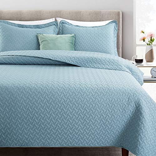 Artall Bedruckte Tagesdecke, Bettüberwurf, Bettbezug, Süßigkeiten-Muster Full/Queen blau