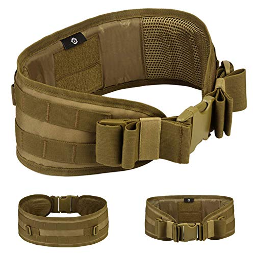 Selighting Cintura Tattica Militare con Molle Sistema con Cinturino a Sgancio Rapido per attività all'aperto Softair Militare Caccia o da Campeggio (Marrone)