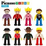PicassoTiles Magnetic 8 Piece Character Action Figures Toddler Toy Set Magnet...